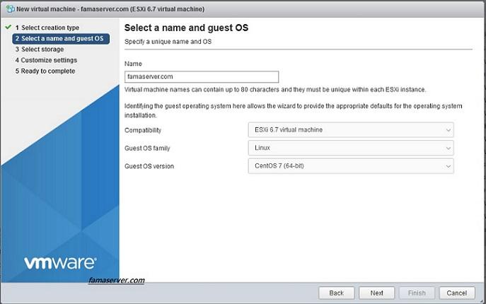 آموزش نصب سیستم عامل cent os 7 در esxi 6.7