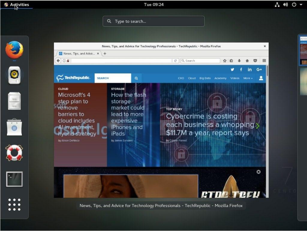 نصب محیط گرافیکی در cent os