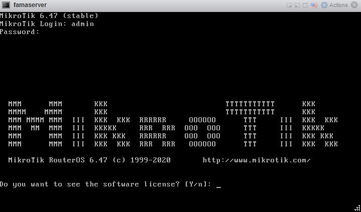 تنظیمات ip میکروتیک بعد از نصب