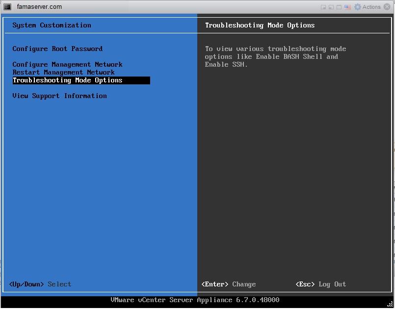 فعال کردن ssh در vcenter